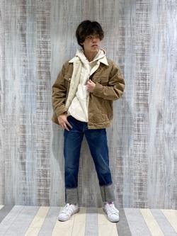 Lee 名古屋店のKazumaさんのLeeの終了【Winter sale】BOA STORM RIDER ジャケット【コーデュロイ】を使ったコーディネート