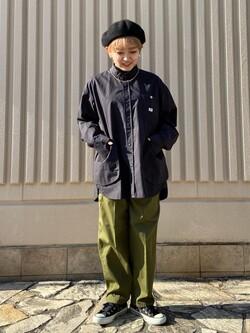 西宮ガーデンズ店のAnjuさんのLeeの【直営店・WEB限定】ビッグポケット シャツジャケットを使ったコーディネート