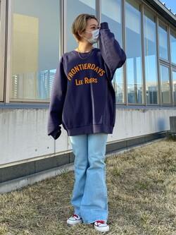 西宮ガーデンズ店のAnjuさんのLeeのSTANDARD WARDROBE ベルフレアーを使ったコーディネート
