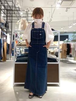 西宮ガーデンズ店のAnjuさんのLeeの【15%OFFクーポン対象】オーバーオール スカートを使ったコーディネート