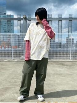 エスパル仙台店のmisaさんのLeeの【SALE】タイダイ柄 半袖Tシャツを使ったコーディネート