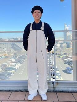 ららぽーと横浜のshoheiさんのLeeの【SPRING SALE】ミリタリー オーバーオールを使ったコーディネート