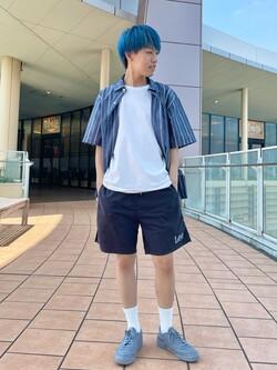ららぽーと横浜のshoheiさんのLeeの【軽くてはきやすい】アスレティック ショーツを使ったコーディネート