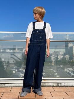 ららぽーと横浜のshoheiさんのLeeの【ユニセックス】LOW-BACK オーバーオールを使ったコーディネート