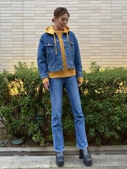 堀江店のRenaさんのLeeのSTANDARD WARDROBE フレアーを使ったコーディネート