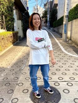 TOKYO HARAJUKU店のFemale StaffさんのEDWINの【Winter sale】【コンセプトショップ限定】EDWIN×ZOO YORK LONG SLEEVE TEEを使ったコーディネート