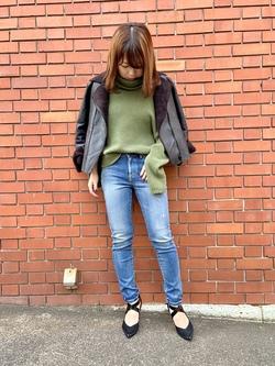 TOKYO HARAJUKU店のFemale StaffさんのEDWINのEDWIN LADIES ジャージーズ スキニー【プレミアムモデル】を使ったコーディネート