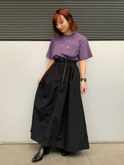 Lee アミュプラザ博多店のMISAKIさんのLeeの【Lee×GRAMICCI(グラミチ)】ロングスカートを使ったコーディネート