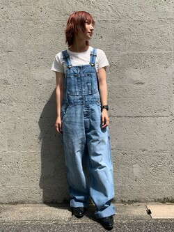 Lee アミュプラザ博多店のMISAKIさんのLeeの【竹下玲奈さんモデル】ジャストフィットTシャツを使ったコーディネート