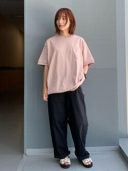 Lee アミュプラザ博多店のMISAKIさんのLeeの【SALE】ヘビーウエイト半袖Tシャツを使ったコーディネート