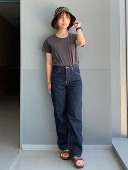 Lee アミュプラザ博多店のMISAKIさんのLeeの【otonaMUSE掲載】【毎日履きたい】ボーイズストレートパンツを使ったコーディネート