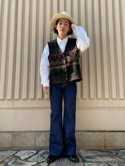 西宮ガーデンズ店のShimpeiさんのLeeのSTANDARD WARDROBE ベルフレアーを使ったコーディネート