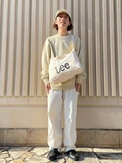 西宮ガーデンズ店のShimpeiさんのLeeの【ユニセックス】DUNGAREES ペインターパンツを使ったコーディネート
