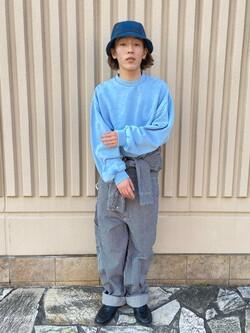 西宮ガーデンズ店のShimpeiさんのLeeの【男女兼用】DUNGAREES UNION-ALLS/つなぎ/ジャンプスーツ/オールインワンを使ったコーディネート