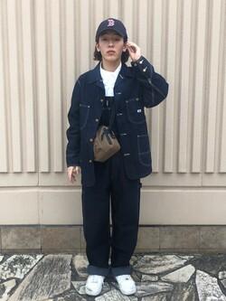 西宮ガーデンズ店のShimpeiさんのLeeの【年間ベストセラー】オーバーオールを使ったコーディネート