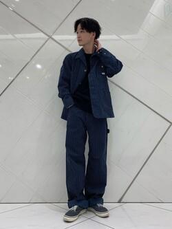 熊本COCOSA店のSHOGOさんのLeeの【ユニセックス】DUNGAREES ペインターパンツを使ったコーディネート