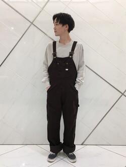 熊本COCOSA店(閉店)のSHOGOさんのLeeの【SALE】【ユニセックス】ミニロゴ刺繍 クルーネックスウェットを使ったコーディネート