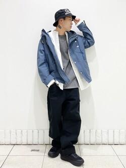 札幌パセオ店のgenさんのLeeのマウンテンパーカー/ジャケットを使ったコーディネート