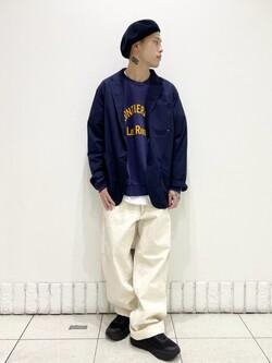 札幌パセオ店のgenさんのLeeの【セットアップ対応】ジャケットを使ったコーディネート