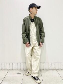 札幌パセオ店のgenさんのLeeの【直営店・WEB限定】ビッグポケット シャツジャケットを使ったコーディネート