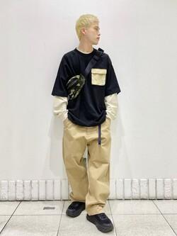 札幌パセオ店のgenさんのLeeの【Lee×GRAMICCI(グラミチ)】ルーズフィット ペインターパンツを使ったコーディネート