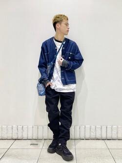 札幌パセオ店のgenさんのLeeの終了【SALE】【軽くて涼しい】ライトウエイト エンジニアジャケット/デニムジャケットを使ったコーディネート