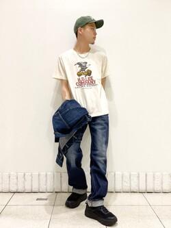 札幌パセオ店のgenさんのLeeの【試着対象】【期間限定10%OFF】AMERICAN RIDERS 101Z ストレートジーンズを使ったコーディネート