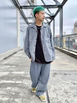 札幌パセオ店のgenさんのLeeのカバーオールジャケットを使ったコーディネート