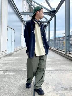 札幌パセオ店のgenさんのLeeの【SALE】ラウンドヘム 半袖Tシャツを使ったコーディネート