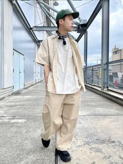 札幌パセオ店のgenさんのLeeのボックスフィット 半袖シャツを使ったコーディネート