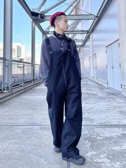 札幌パセオ店のgenさんのLeeの【Lee×GRAMICCI(グラミチ)】オーバーオールを使ったコーディネート