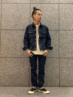 札幌パセオ店のgenさんのLeeの101J デニムジャケットを使ったコーディネート