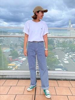 ららぽーと横浜のsatoさんのLeeの終了【ガレージセール】バックプリント 半袖Tシャツを使ったコーディネート