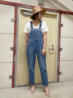 ららぽーと横浜のsatoさんのLeeの【試着対象】【オールシーズン着回せる】オーバーオール テーパードを使ったコーディネート