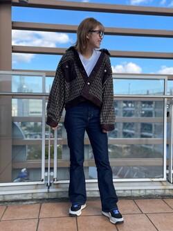 ららぽーと横浜のsatoさんのLeeの【期間限定10%OFF】ボアジャケット チェックを使ったコーディネート