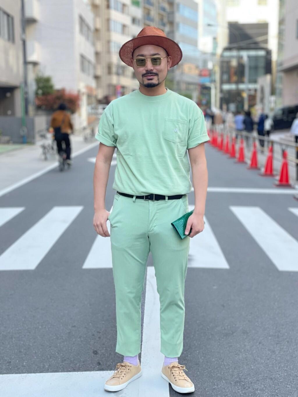 ALPHA SHOP渋谷店のKataoka.RさんのALPHAのUSA COTTON ポケットTシャツを使ったコーディネート