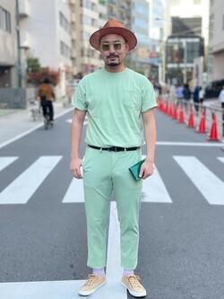 ALPHA SHOP渋谷店のKataoka.RさんのALPHAの【SALE】USA COTTON ポケットTシャツを使ったコーディネート