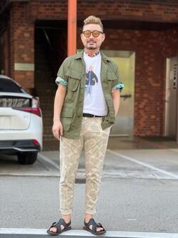 ALPHA SHOP渋谷店のKataoka.RさんのALPHAのアスレチックシャツを使ったコーディネート
