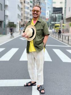 ALPHA SHOP渋谷店のKataoka.RさんのALPHAの終了【ガレージセール】ファティーグシャツを使ったコーディネート