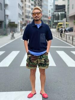 ALPHA SHOP渋谷店のKataoka.RさんのALPHAの終了【ガレージセール】ベーシックカーゴショーツを使ったコーディネート