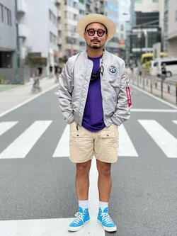 ALPHA SHOP渋谷店のKataoka.RさんのALPHAの【試着対象】【期間限定10%OFF】L-2B アポロIIを使ったコーディネート