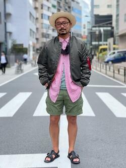ALPHA SHOP渋谷店のKataoka.RさんのALPHAの【予約割】MA-1 タイト ジャケット【ユニセックス】【10月上旬頃発送予定】を使ったコーディネート