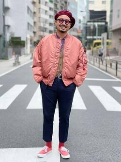 ALPHA SHOP渋谷店のKataoka.RさんのALPHAの【試着対象】MA-1 ナイロンジャケット U.S.サイズを使ったコーディネート