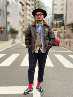 ALPHA SHOP渋谷店のKataoka.RさんのALPHAの【アウター15%OFFクーポン対象】G-1ジャケットを使ったコーディネート