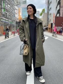 ALPHA SHOP渋谷店のmoe さんのALPHAの【Begin 12月号掲載】モッズコートを使ったコーディネート