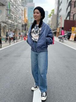 ALPHA SHOP渋谷店のmoe さんのALPHAのL-2B ボンディングジャケットを使ったコーディネート