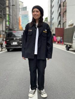 ALPHA SHOP渋谷店のmoe さんのALPHAのユーティリティーシャツを使ったコーディネート