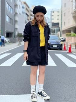 ALPHA SHOP渋谷店のmoe さんのALPHAの【SALE】ミリタリーオーバーシャツを使ったコーディネート
