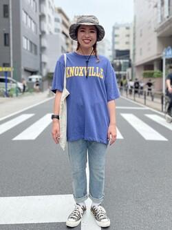 ALPHA SHOP渋谷店のmoe さんのALPHAの【TOPS 15%OFFクーポン対象】【SALE】KNOXVILLE ビンテージプリントTシャツを使ったコーディネート