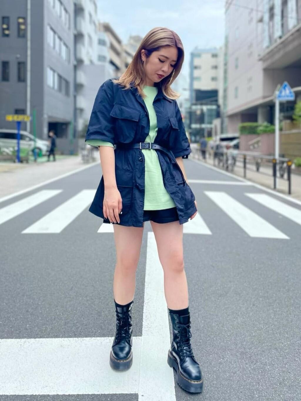 ALPHA SHOP渋谷店のmoe さんのALPHAの【再値下げSALE】ファティーグシャツを使ったコーディネート